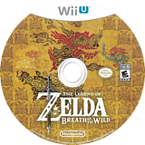 The Legend of Zelda: Breath of the Wild WiiU disc (ALZE01)