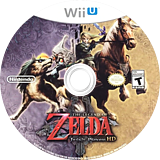The Legend of Zelda: Twilight Princess HD WiiU disc (AZAE01)