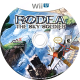 Rodea the Sky Soldier WiiU disc (BRDENS)