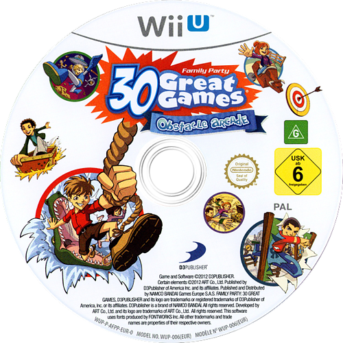 Family Party: 30 Great Games Obstacle Arcade WiiU discM (AFPPAF)