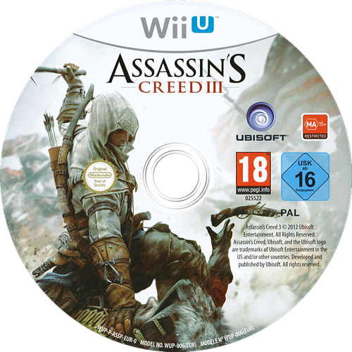 Assassin's Creed III WiiU discM (ASSP41)