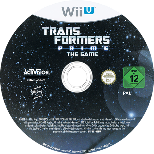Transformers Prime: The Game WiiU discM (ATRP52)
