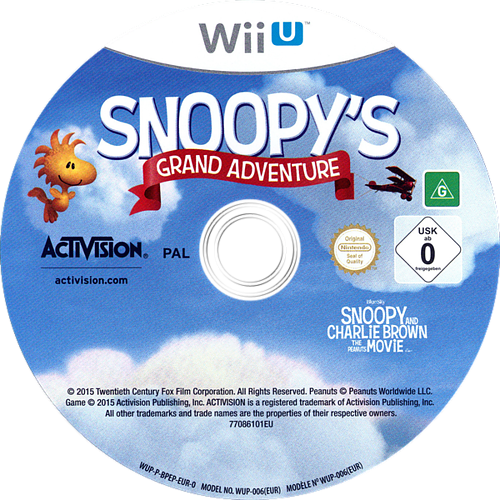 The Peanuts Movie: Snoopy's Grand Adventure WiiU discM (BPEP52)