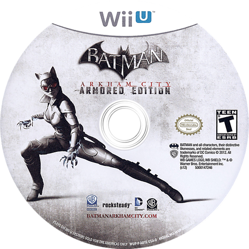 Batman Arkham City: Armored Edition WiiU discM (ABTEWR)