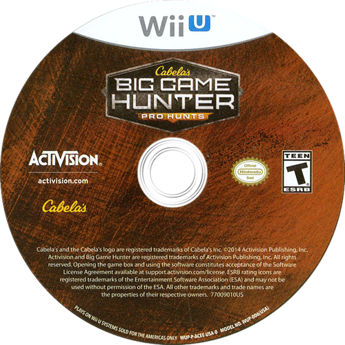 Cabela's Big Game Hunter: Pro Hunts WiiU discM (ACEE52)
