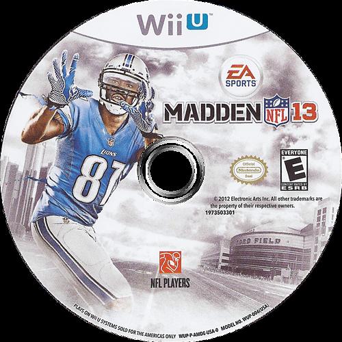 Madden NFL 13 WiiU discM (AMDE69)