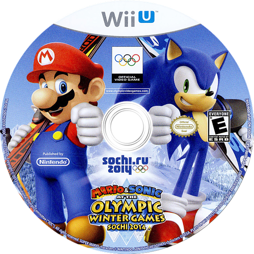 Mario & Sonic at the Sochi 2014 Olympic Winter Games WiiU discM (AURE01)
