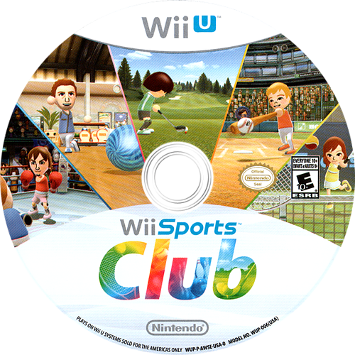 Wii Sports Club WiiU discM (AWSE01)