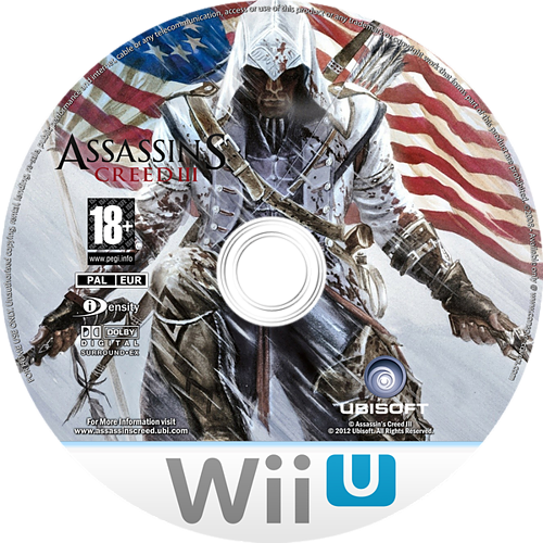 Assassin's Creed III WiiU disccustomM (ASSP41)