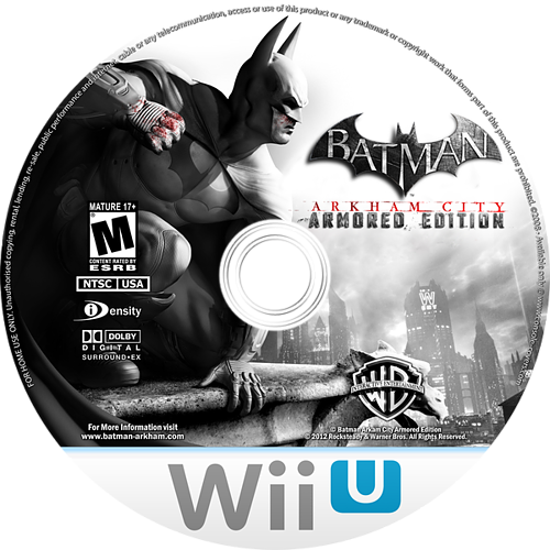 Batman Arkham City: Armored Edition WiiU disccustomM (ABTEWR)