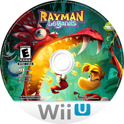 Rayman Legends WiiU disccustomM (ARME41)